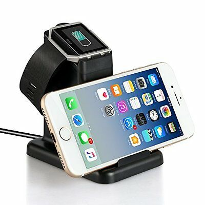 Fitbit Blaze Charging Stand Charger Cradle 2 in 1 for Fitbit Blaze Watch Black