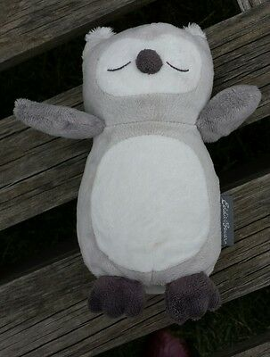 Eddie Bauer Baby Portable Soother Owl Plush Vibrating Sleep Aid Washable Lovey