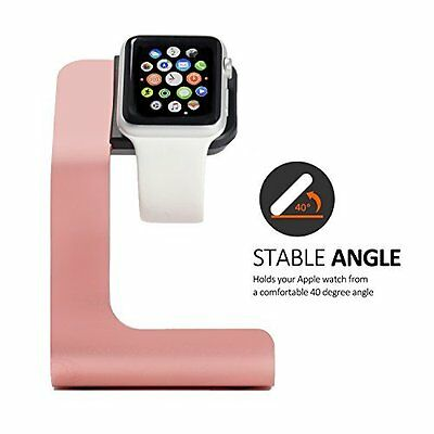 Apple Watch Stand Charging Stand Aluminium for 38mm & 42mm Apple Watch Rose New