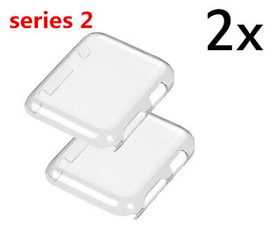 2X Apple Watch iWatch 38mm/42mm Slim Thin TPU Hard Protective Case Cover clear