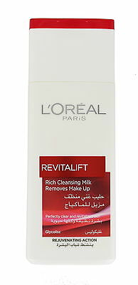 L'Oreal revitalift Cleansing Milk Make Up Remover 200ml