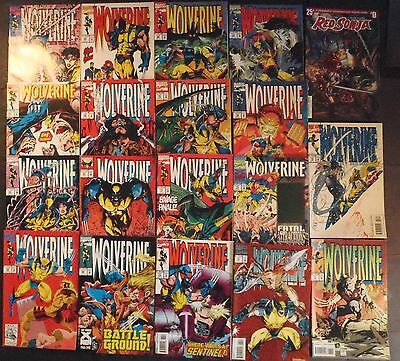 Wolverine # 61 complete through 78...lot of 18 Marvel & 1 Dynamite comics