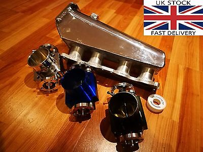 TriX ca18det 200SX s13 polished induction inlet intake manifold + throttle body