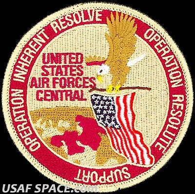 Usaf Central Command Operation - Inherent Resolve & Resolute Support 2017 -Patch