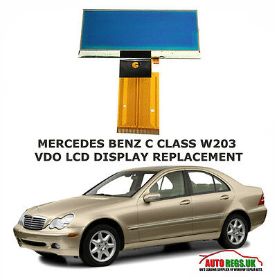 MERCEDES BENZ C CLASS W203 LCD VDO DISPLAY SCREEN for INSTRUMENT CLUSTER DASH