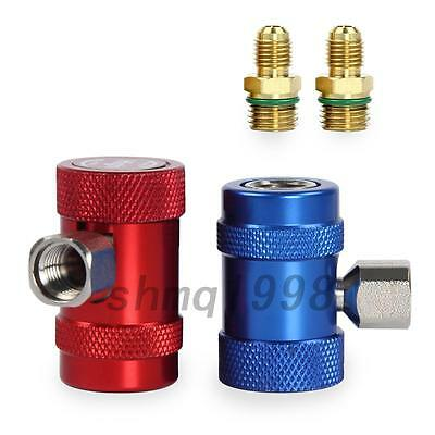 Portable 2pcs R1234yf Quick Connector Refrigerant Air Conditioning Adapter New