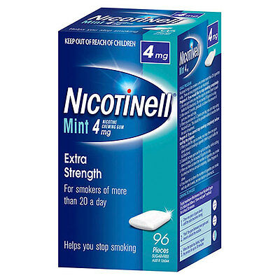 NEW Nicotinell Gum Mint 4mg - 96 Pack