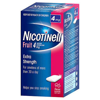 NEW Nicotinell Gum 4mg Fruit - 96 Pack