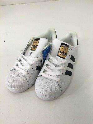 New Superstar 2 Adidas Youth Shoes Size 5 White/ Black/ Gold