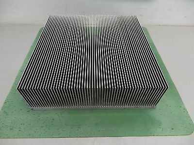 "Aluminum Heatsink  12 1/4"" x 12"" x 4""  Heat Sink Nice Condition"