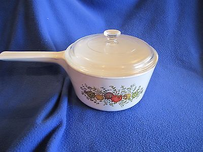 Vintage Corning Ware SPICE OF LIFE RANGE TOPPERS 1 1/2 Qt. N-1 1/2-B With Lid