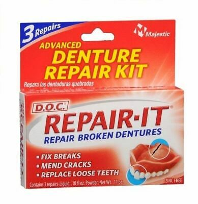 Dentemp D.O.C Denture Repair Kit 1 2 3 6 Packs