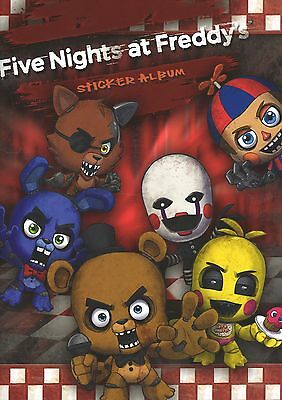 Five Nights at Freddy's sticker collection complete set of stickers + album