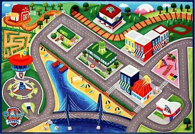 Paw Patrol Activity Area Rug Mat Play Kids Toys Cars Room Decor Nonskid 5 x7 New