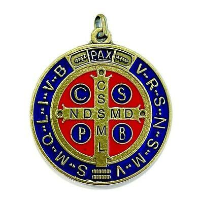 """🍭 Saint Benedict 2"""" Medal ❀  Exorcism ❀  Medalla de San Benito BLESSED BY POPE"""