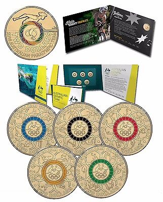 2016 Rio Olympic & Paralympic RAM $2 Coloured UNC Coin Collections in Folders