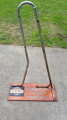 Stihl ultra rare 1960's four chainsaw advertising rack