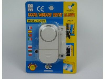 Wireless Door And Window Entry Alarm Battery Home System Security Switch