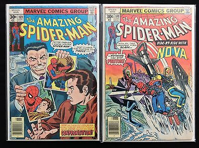 AMAZING SPIDER-MAN Lot of 2 Marvel Comic Books - #169 171!