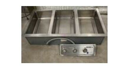 Wells MOD300DM 3 Pan Drop-In Hot Food Well with Drain Manifolds