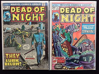 DEAD OF NIGHT Lot of 2 Marvel Comic Books - #3 10!