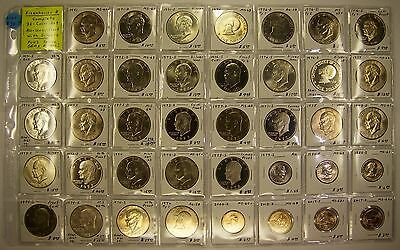 Complete 32-Coin Set Eisenhower Dollars w/Silver Plus SBA, Sac, Native American