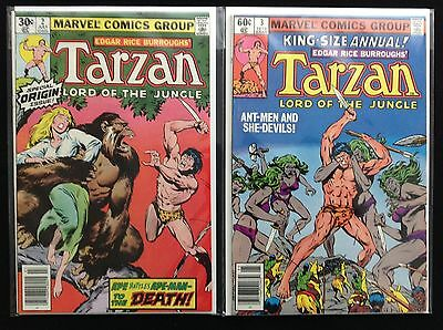 TARZAN Lot of 2 Marvel Comic Books - #2 & Annual 3 - High Grade!