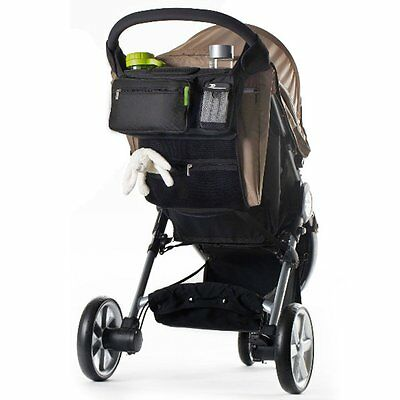 Baby Stroller Safe Console Tray Pram Hanging Bag/Bottle Cup Holder Organizer