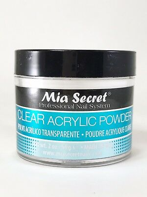 Mia Secret Clear Acrylic Powder 2 oz + FREE SHIPPING