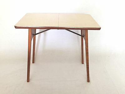 HOWE Mid Century Modern Portable Vintage Folding Table Small Space Furniture USA