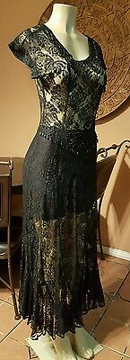 Vintage,Mexican,Black Wedding dress,Dia De Los muertos,lace,prom,80's,