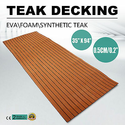 240 x 90cm Boat Yacht Synthetic Teak Decking Sheet 5mm thick Carpet