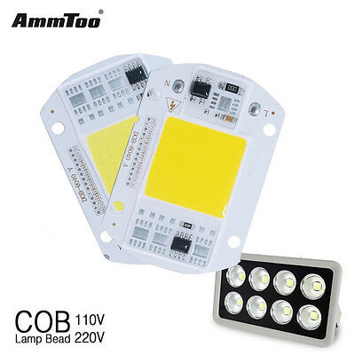 New LED Floodlight COB Chip Input Integrated Smart IC Driver Lamp 20W 30W 50W