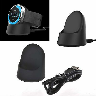 QI Wireless Charging Cradle Dock Charger Cable Fit Motorola Moto 360 Smart Watch