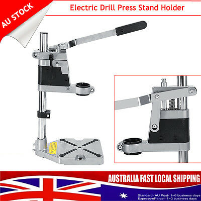 Universal Electric Drill Press Stand Holder Heavy Duty Frame Cast Metal Base AU
