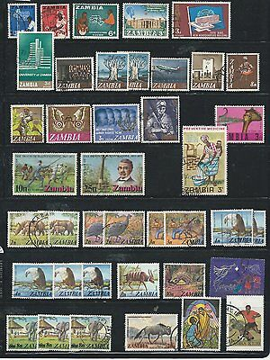 Stamps Africa  - Zambia some doubles + F/U