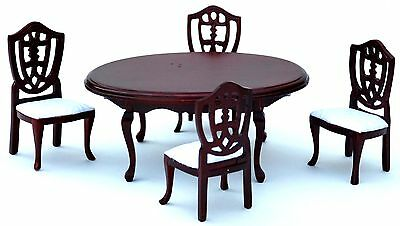 Wooden Mahogany Round  Dinning Table Set