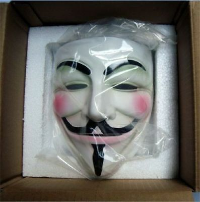 High-grade  Cosplay Halloween Guy Fawkes V FOR Vendetta Anonymous Mask Resin