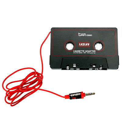 Car 3.5mm Audio Jack Aux MP3 CD DVD Radio Tape Cassette Adapter For iPhone iPod