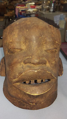 African Makonde Lipico Helmet Mask of northern Mozambique and southern Tanzania