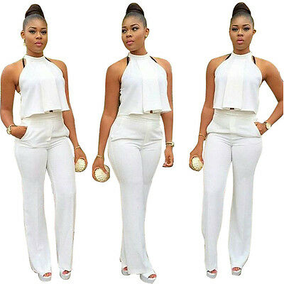 Women Clubwear Summer Halter Playsuit Bodycon Party Jumpsuit Romper Trousers