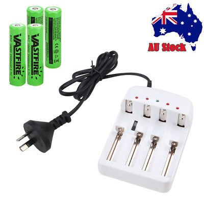 Powerful Rechargeable 4x18650 4000mah Li-ion Batteries i4 i2 Battery charger AU