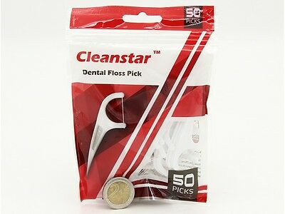 Cleanstar Dental floss picks flossers dental floss toothpick 50 picks