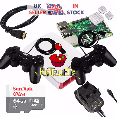 RetroPie Raspberry Pi 3 Retro Games arcade Console - 64gb - back in Stock!!