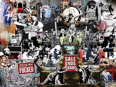 Vintage Comic Book Covers Collage Super Giant Poster A5 A4 A3 A2 A1 A0 Sizes