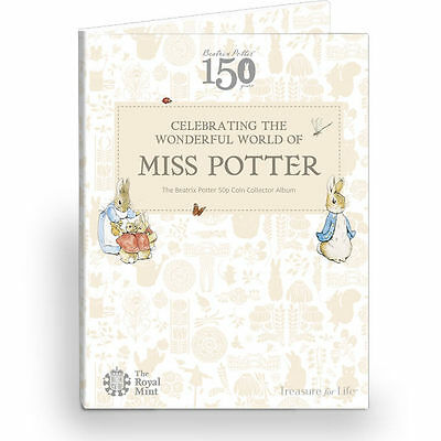 Royal Mint 2016 Beatrix Potter 50p Coin Album Folder Brand New Peter Rabbit