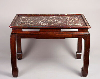 Chinese Rosewood & Inalid Mother-of-Pearl Table