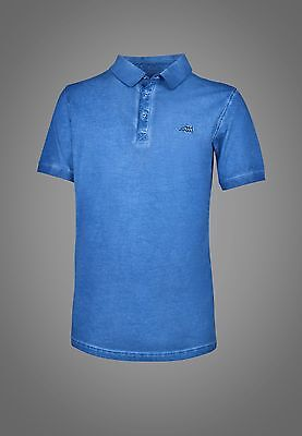 Equiline Brandon Polo Shirt Blue Large