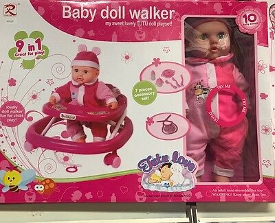 TUTU LOVE Baby doll Walker PLAY SET with 7 accessory set AMAZING GIFT