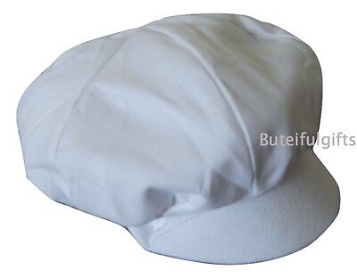 Baby Boys White Soft Lined Sun Cap Newborn 0-3 3-6 Months Boys Sun Hat